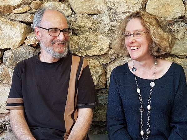 Daphne Perry with Mark Adler, co-author of Clarity for Lawyers